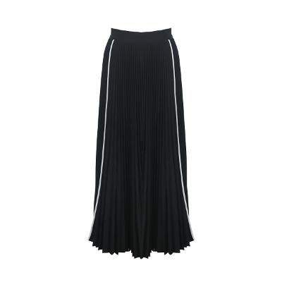 side line point pleats long skirt
